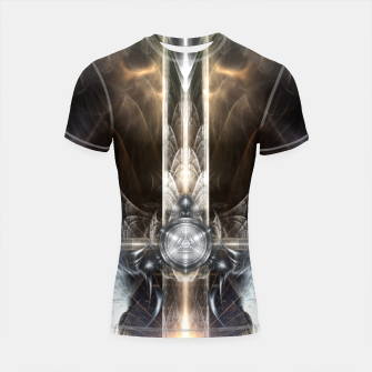 Thumbnail image of Heavenly Angel Wings Cross Shortsleeve rashguard, Live Heroes