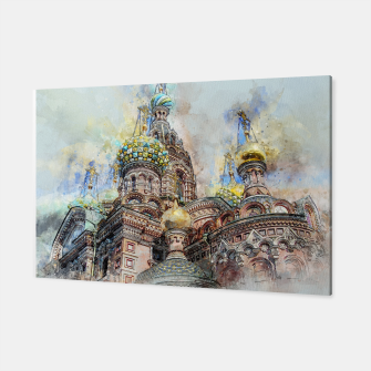 Thumbnail image of Saint Petersburg City Russia Colour Digial Painting Canvas, Live Heroes