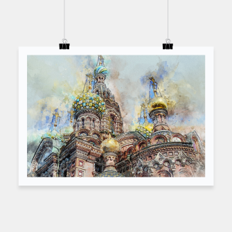 Thumbnail image of Saint Petersburg City Russia Colour Digial Painting Poster, Live Heroes