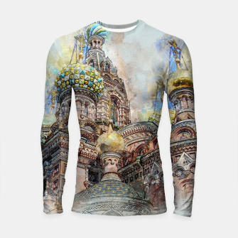 Thumbnail image of Saint Petersburg City Russia Colour Digial Painting Longsleeve rashguard , Live Heroes