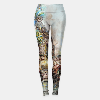 Thumbnail image of Saint Petersburg City Russia Colour Digial Painting Leggings, Live Heroes