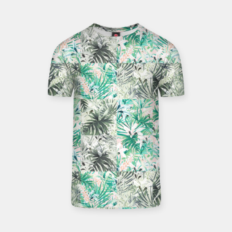 Thumbnail image of Mosaic tropical tiles messy Camiseta, Live Heroes
