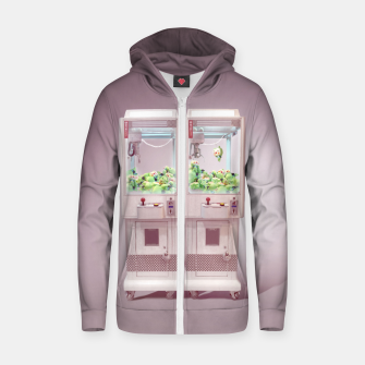 Thumbnail image of Claw Machine Cotton zip up hoodie, Live Heroes