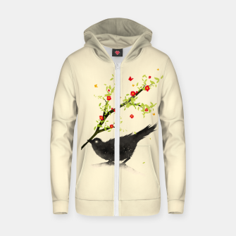 Thumbnail image of Spring Is Coming Cotton zip up hoodie, Live Heroes