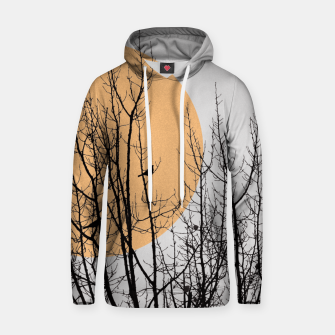 Thumbnail image of Birds and tree silhouette 1 Cotton hoodie, Live Heroes