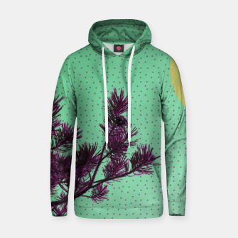 Pine tree and purple polka dots Cotton hoodie imagen en miniatura