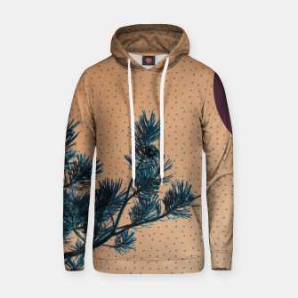 Thumbnail image of Pine tree and blue polka dots Cotton hoodie, Live Heroes
