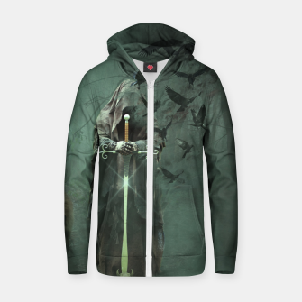 Thumbnail image of Eden Collapse Cotton zip up hoodie, Live Heroes
