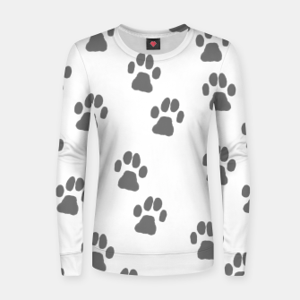 Miniaturka Paw print Woman cotton sweater, Live Heroes