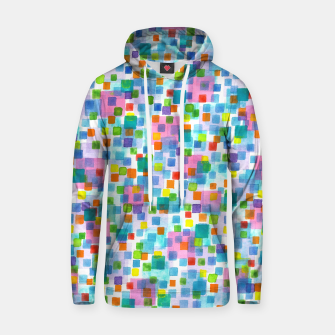 Thumbnail image of Pink beneath Square-Confetti  Cotton hoodie, Live Heroes