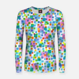 Miniatur Pink beneath Square-Confetti  Woman cotton sweater, Live Heroes
