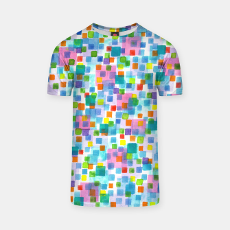 Thumbnail image of Pink beneath Square-Confetti  T-shirt, Live Heroes