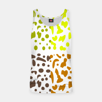 Miniaturka Tank top wild tiger Dots on white, Live Heroes