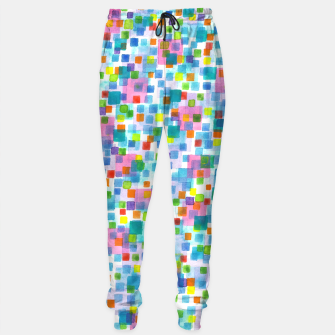 Miniatur Pink beneath Square-Confetti  Cotton sweatpants, Live Heroes