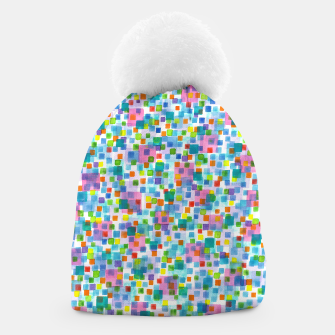 Thumbnail image of Pink beneath Square-Confetti  Beanie, Live Heroes