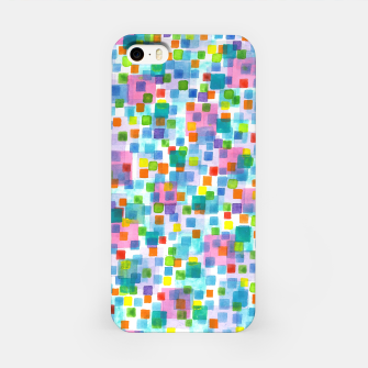 Miniatur Pink beneath Square-Confetti  iPhone Case, Live Heroes