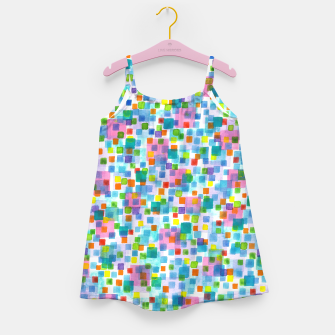 Miniatur Pink beneath Square-Confetti  Girl's dress, Live Heroes