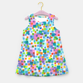 Miniatur Pink beneath Square-Confetti  Girl's summer dress, Live Heroes