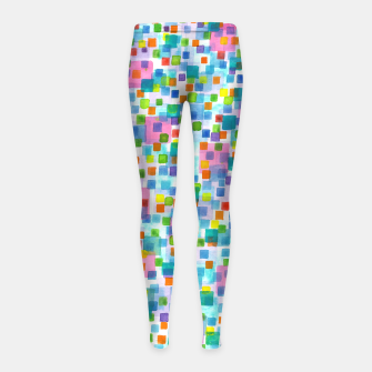 Miniatur Pink beneath Square-Confetti  Girl's leggings, Live Heroes