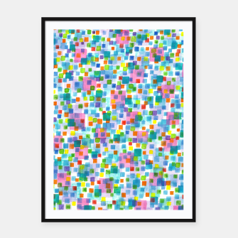 Thumbnail image of Pink beneath Square-Confetti  Framed poster, Live Heroes