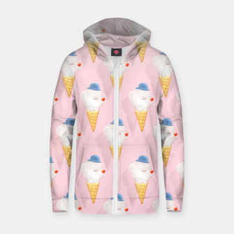 Miniatur SmileDog Pool Float Cotton zip up hoodie, Live Heroes