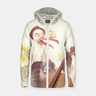 Thumbnail image of The Great Artist Cotton zip up hoodie, Live Heroes