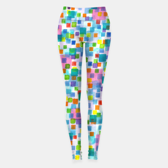 Thumbnail image of Pink beneath Square-Confetti  Leggings, Live Heroes