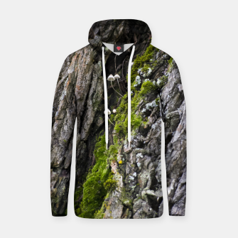 Thumbnail image of Tree trunk and mushrooms Cotton hoodie, Live Heroes