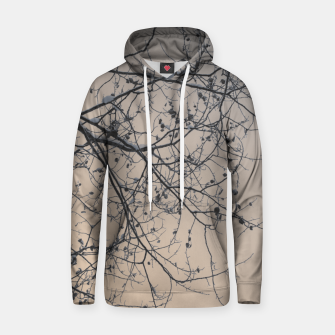 Thumbnail image of Snowy branches Cotton hoodie, Live Heroes