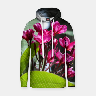 Thumbnail image of Frangipani Cotton hoodie, Live Heroes
