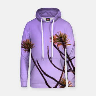 Thumbnail image of Pine tree branches Cotton hoodie, Live Heroes
