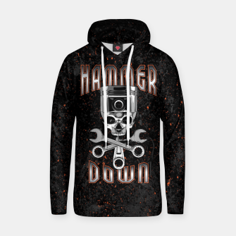 Thumbnail image of Hammer Down Cotton hoodie, Live Heroes