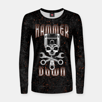 Thumbnail image of Hammer Down Woman cotton sweater, Live Heroes