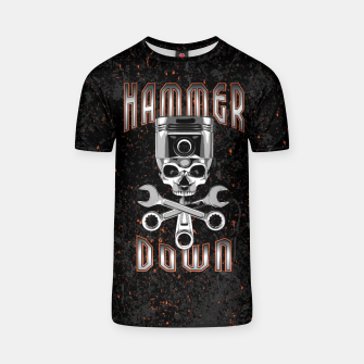 Thumbnail image of Hammer Down T-shirt, Live Heroes
