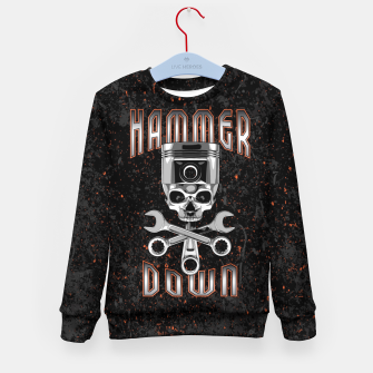 Thumbnail image of Hammer Down Kid's sweater, Live Heroes