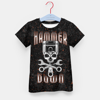 Thumbnail image of Hammer Down Kid's t-shirt, Live Heroes