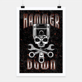 Thumbnail image of Hammer Down Poster, Live Heroes