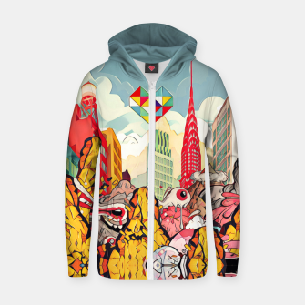 Thumbnail image of City Cotton zip up hoodie, Live Heroes
