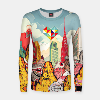 Thumbnail image of City Woman cotton sweater, Live Heroes