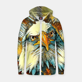 AnimalArt_Eagle_20170603_by_JAMColors Cotton zip up hoodie miniature