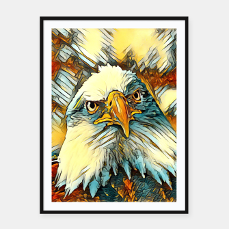 AnimalArt_Eagle_20170603_by_JAMColors Framed poster miniature