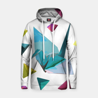 Thumbnail image of Origami carnival Cotton hoodie, Live Heroes