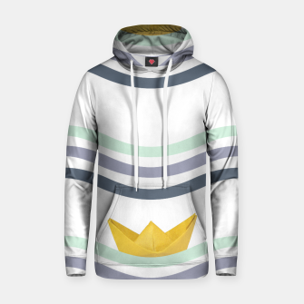 Thumbnail image of Origami sea Cotton hoodie, Live Heroes