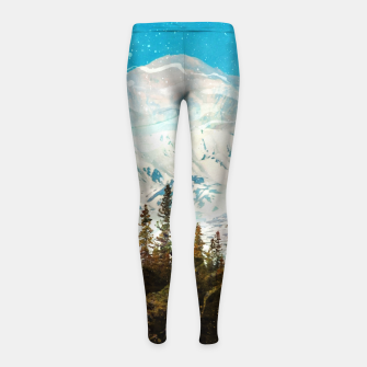 Thumbnail image of Pretty in Blue Girl's leggings, Live Heroes