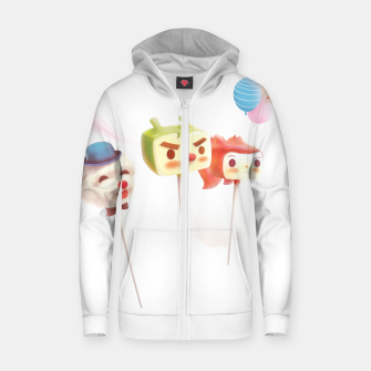 Thumbnail image of Cake Pops Zip up hoodie, Live Heroes