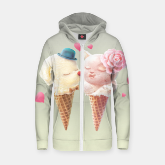 Imagen en miniatura de Ice Cream Love Cotton zip up hoodie, Live Heroes