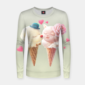 Imagen en miniatura de Ice Cream Love Woman cotton sweater, Live Heroes