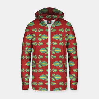 Miniaturka Tropical Stylized Floral Pattern Cotton zip up hoodie, Live Heroes