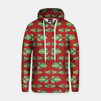 Miniaturka Tropical Stylized Floral Pattern Cotton hoodie, Live Heroes