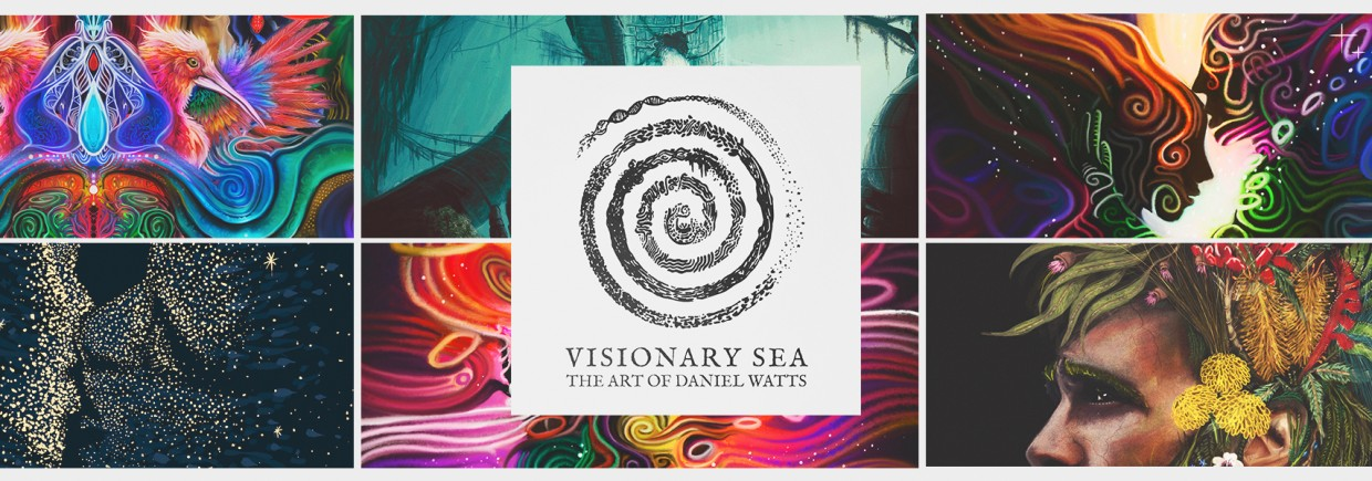 Visionary Sea, The Art of Daniel Watts background image, Live Heroes